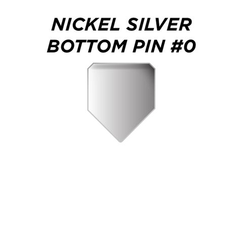 "NIK. SIL. BOTTOM PIN #0 *SILVER* (0.150"") - Pkt of 100"