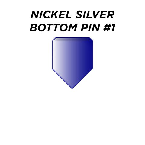 "NIK. SIL. BOTTOM PIN #1 *BLUE* (0.165"") - Pkt of 100"