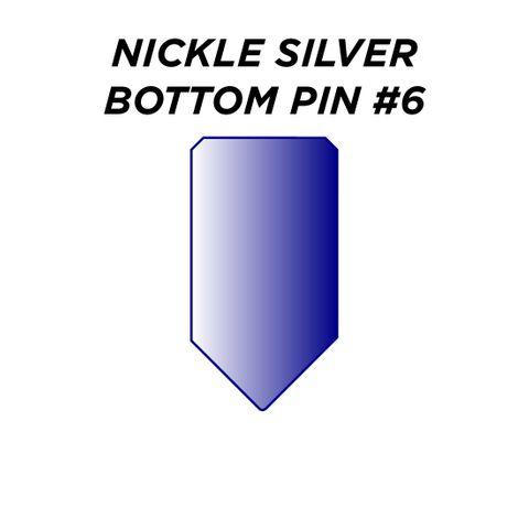 "NIC. SIL. BOTTOM PIN #6 *BLUE* (0.240"") - Pkt of 100"