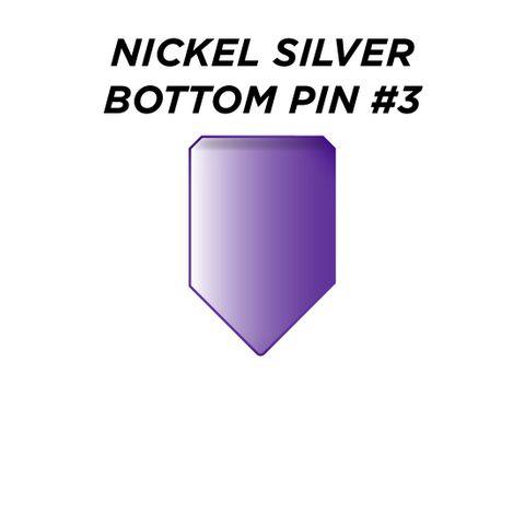 "NIC. SIL. BOTTOM PIN #3 *PURPLE* (0.195"") - Pkt of 100"