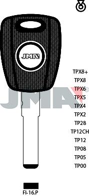 Transponder KEY -  ALFA/FIAT/FORD (Like: SIP22) - P