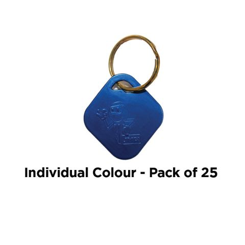 'Aluminium' KEY RING - Pkt of 25 *Blue*