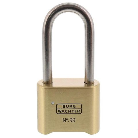 'Commercial' 50/65mm L/SHACKLE COMBI. PADLOCK - 4 Digit - CARDED