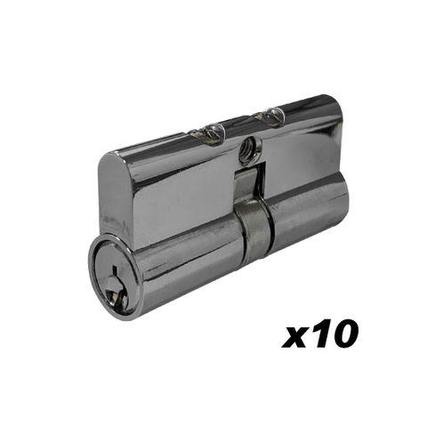 BOX of 10 - LOCK CYLINDERS - DBL EURO LAZY 5-Pin (KA RANDOM)