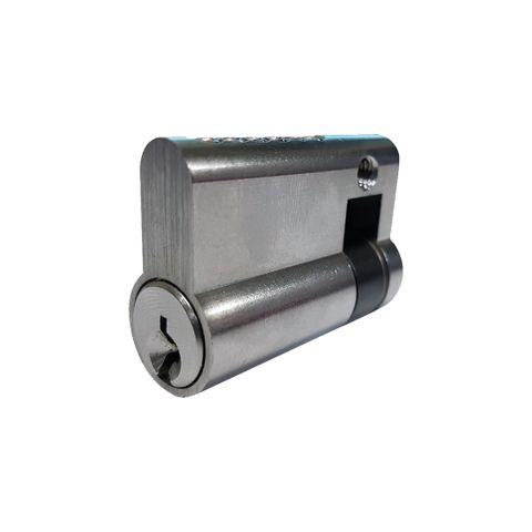 LOCK CYLINDER - (9555-5) HALF EURO FIXED- 6-Pin (KA)