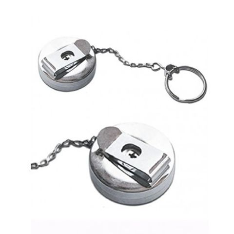 'Roller' Extendable KEY CHAIN - Chrome Plated