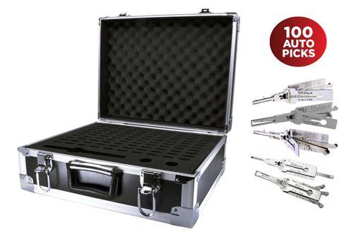 'Lishi' MEGA KIT - Includes 100 x Popular Lishi Picks in Hard 100-Place Tool Case