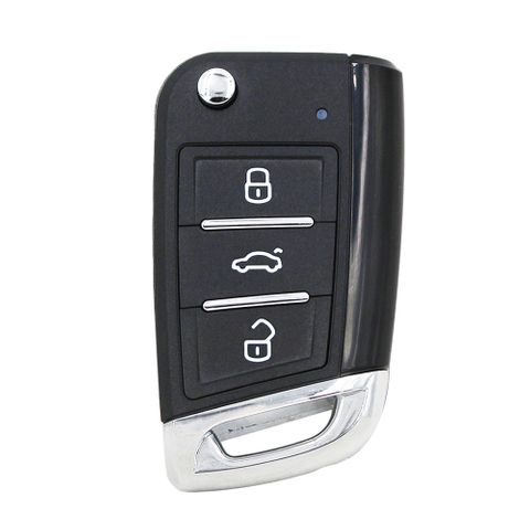 'XK-Series' MQB style - UNIVERSAL FLIP BLADE REMOTE - 3-Button