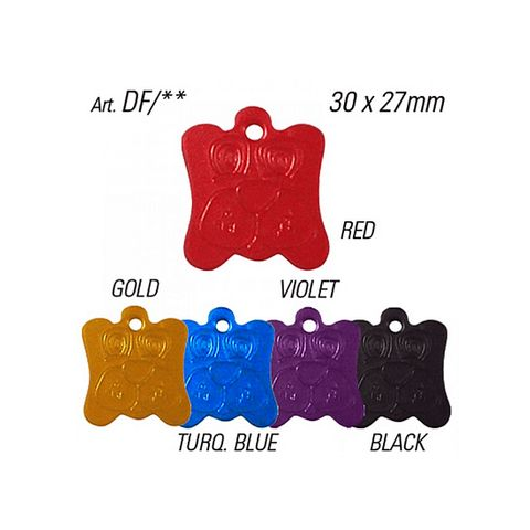 'Pet Tags' DOG FACE - Pkt of 10