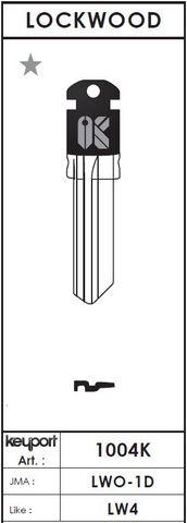 KEYPORT Domestic KEY BLANK (JMA: LWO-1D / Like: LW4)