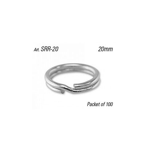 SPLIT RING - 20mm Dia. (Round Profile) - Pkt of 100