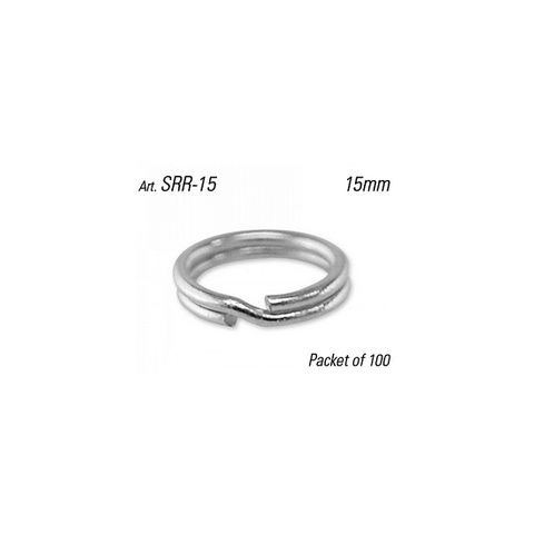SPLIT RING - 15mm Dia. (Round Profile) - Pkt of 100