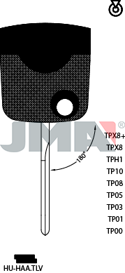 Transponder FLIP KEY - VW (Like: HU66-flip)