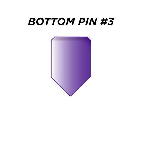 "BOTTOM PIN #3 *PURPLE* (0.195"") - Pkt of 144"