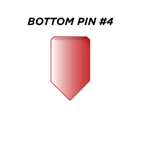 """BOTTOM PIN #4 *RED* (0.210"""") - Pkt of 144"""