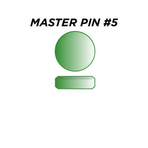 "MASTER PIN #5 *GREEN* (0.075"") - Pkt of 144"