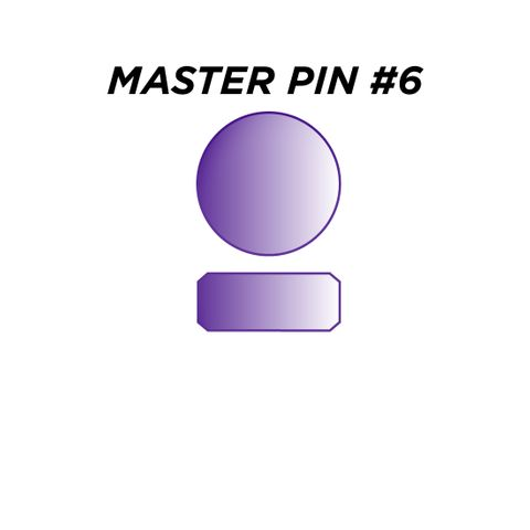 "MASTER PIN #6 *PURPLE* (0.090"") - Pkt of 144"