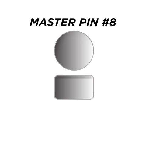 "MASTER PIN #8 *SILVER* (0.120"") - Pkt of 144"