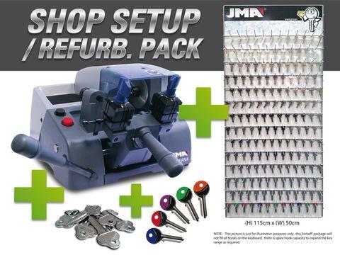 'BERNA' Shop Setup PACKAGE- Duplicator + Keys + Key Rack + Accessories