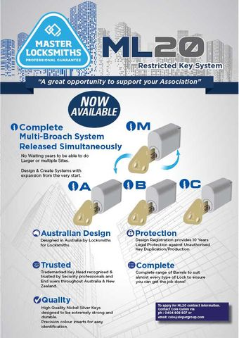ML20 Restricted System - Profiles A,B,C,M+ in all Barrel Types - Please Contact Sales