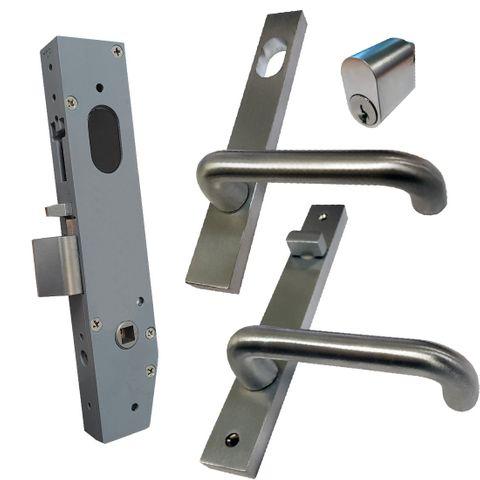23mm Mortice Lock KIT (ENTRANCE) - Inc. Lock, Furniture & Cylinder