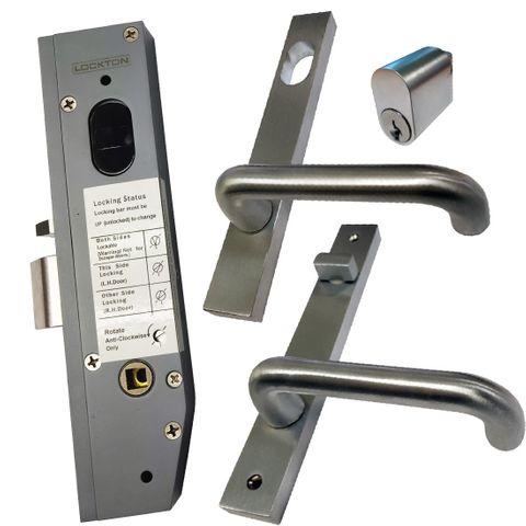 30mm Mortice Lock KIT (ENTRANCE) - Inc. Lock, Furniture & Cylinder