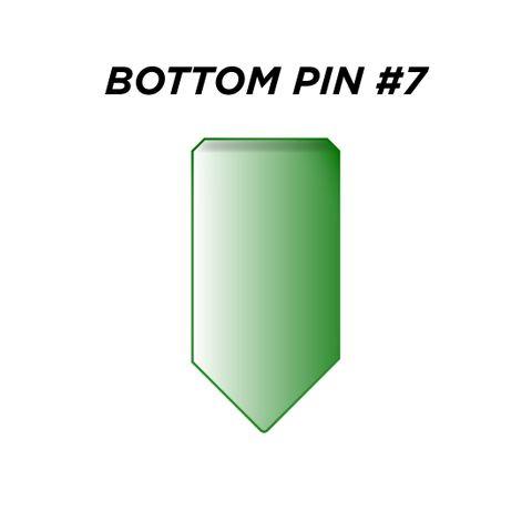 "BOTTOM PIN #7 *GREEN* (0.255"") - Pkt of 144"