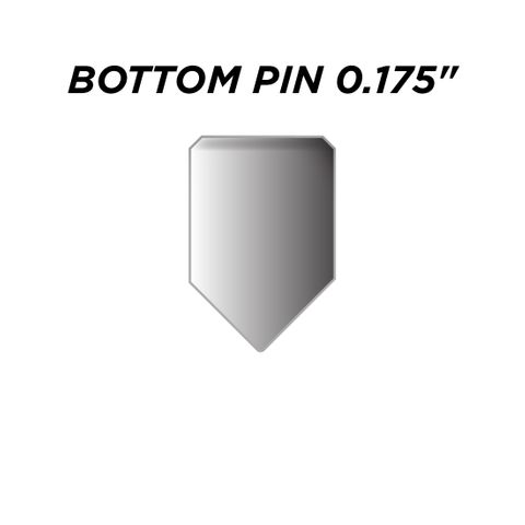 "SPEC. INC. BOTTOM PIN *SILVER* (0.175"") - Pkt of 144"