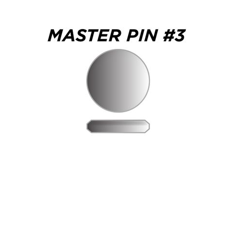 "MASTER PIN #3 *SILVER* (0.045"") - Pkt of 144"