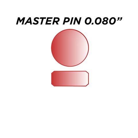 """SPEC. INC. MASTER PIN *RED* (0.080"""") - Pkt of 144"""