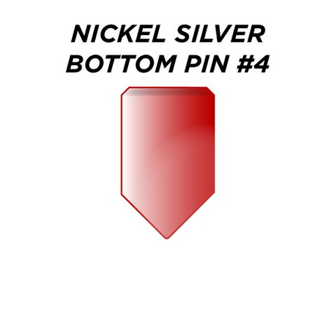 """NIC. SIL. BOTTOM PIN #4 *RED* (0.210"""") - Pkt of 100"""