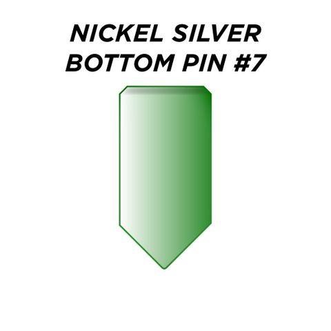 "NIC. SIL. BOTTOM PIN #7 *GREEN* (0.255"") - Pkt of 100"