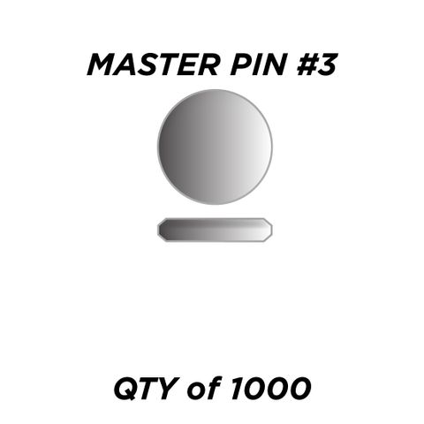 """MASTER PIN #3 *SILVER* (0.045"""") - QTY of 1000"""