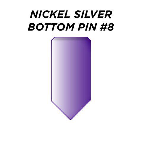 "NIC. SIL. BOTTOM PIN #8 *PURPLE* (0.270"") - Pkt of 100"