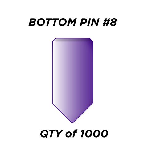 """BOTTOM PIN #8 *PURPLE* (0.270"""") - QTY of 1000"""