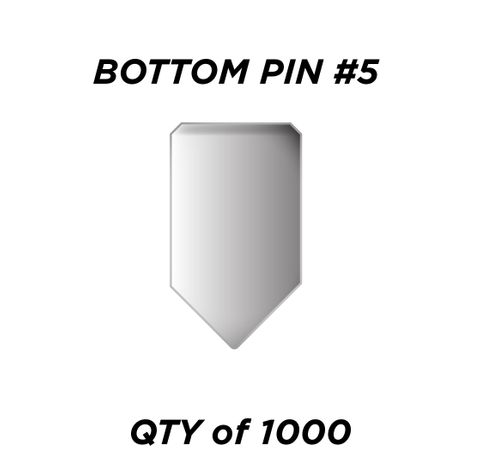 """BOTTOM PIN #5 *SILVER* (0.225"""") - QTY of 1000"""