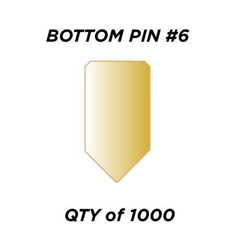 "BOTTOM PIN #6 *GOLD* (0.240"") - QTY of 1000"