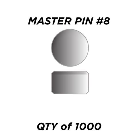 """MASTER PIN #8 *SILVER* (0.120"""")- QTY of 1000"""