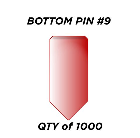 """BOTTOM PIN #9 *RED* (0.285"""") - QTY of 1000"""