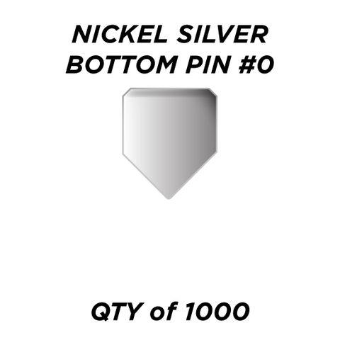 "NIC. SIL. BOTTOM PIN #0 *SILVER* (0.150"") - QTY of 1000"