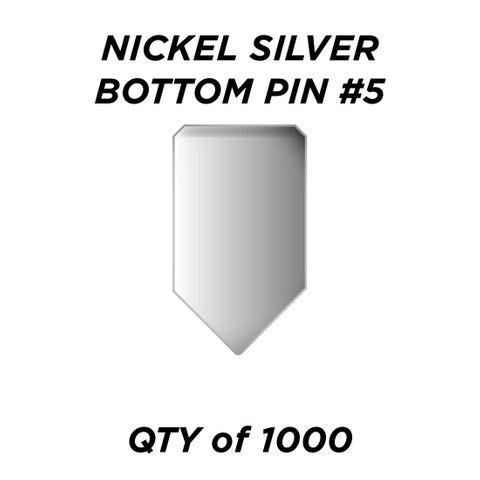 "NIC. SIL. BOTTOM PIN #5 *SILVER* (0.225"") - QTY of 1000"