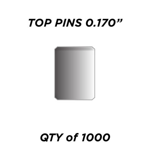 """TOP PIN *SILVER* (0.170"""") - QTY of 1000"""