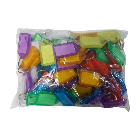 KEY TAG REFILL - Asst. Colours - 70 KEY TAGS
