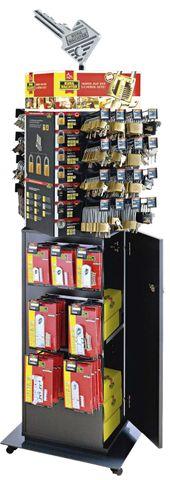 'Mechanical Security' DISPLAY (Free Standing)  Inc. Key Light *Empty*