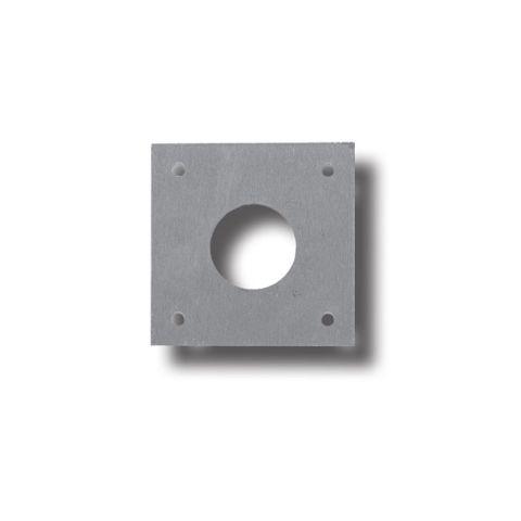 Aluminium SCAR PLATE - 75 x 75mm (5 Holes)