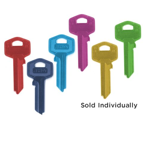 Coloured ALUMINIUM KEY BLANK (Like: TE2)