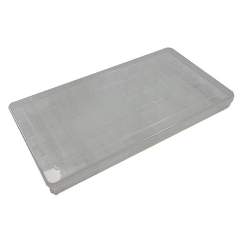 'FISCHER' STORAGE BOX - 31 Compart. - Ramped Sides (Pin removal)