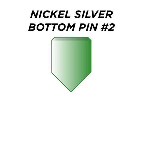"NIC. SIL. BOTTOM PIN #2 * GREEN* (0.180"") - Pkt of 100"