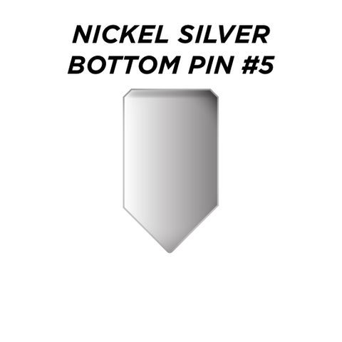 """NIC. SIL. BOTTOM PIN #5 *SILVER* (0.225"""") - Pkt of 100"""