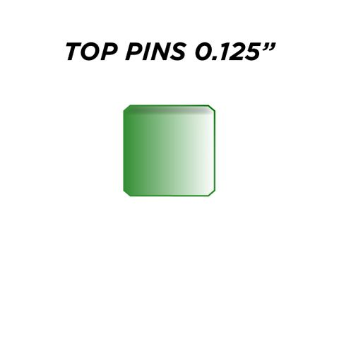 """TOP PIN *GREEN* (0.125"""") - Pkt of 144"""